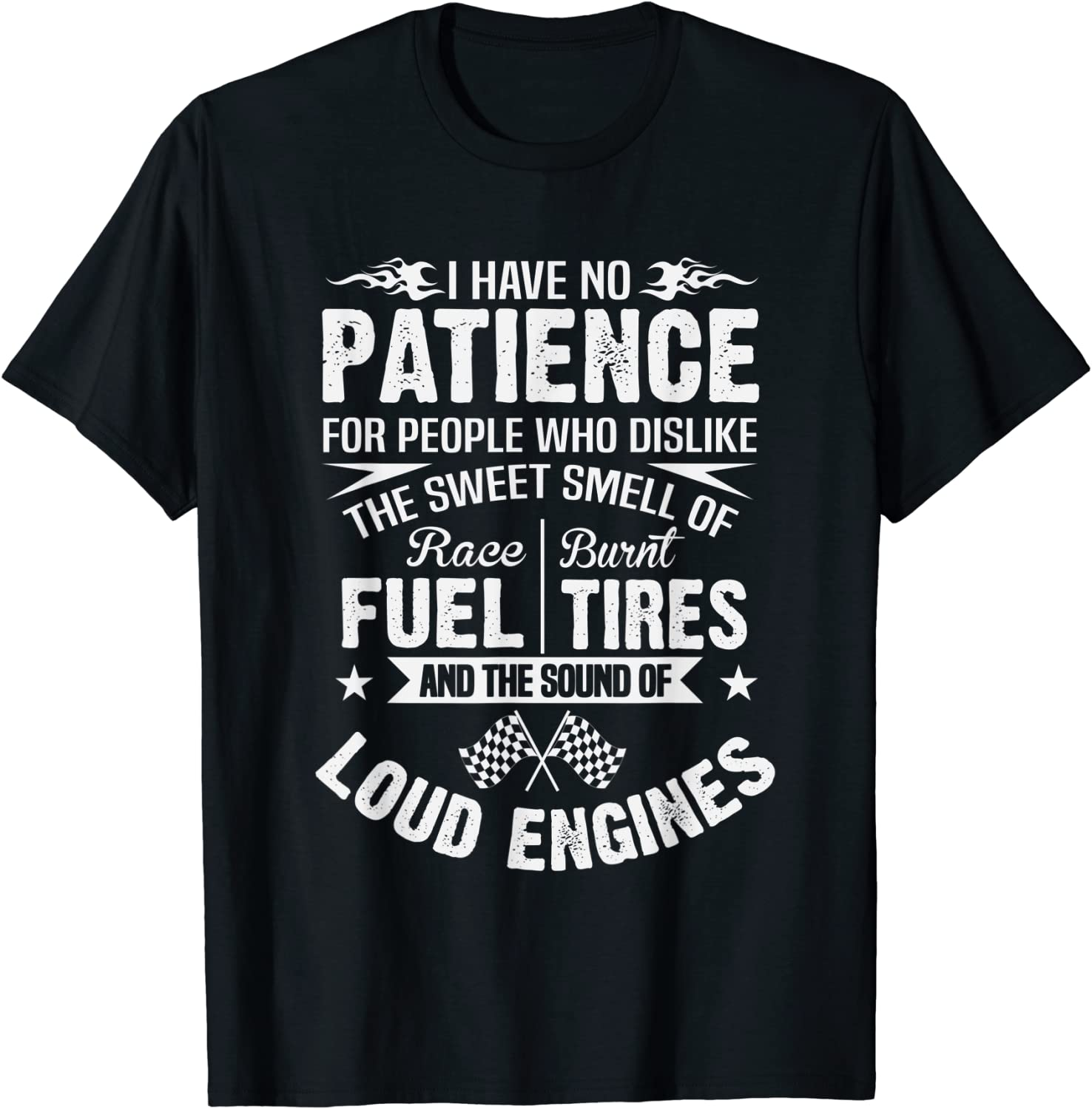 Funny Limited time sale Drag supreme Racing T-Shirt No Fuel Patience Tires Burnt Race