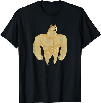 Swole Doge Meme Buff Doge Meme T-Shirt