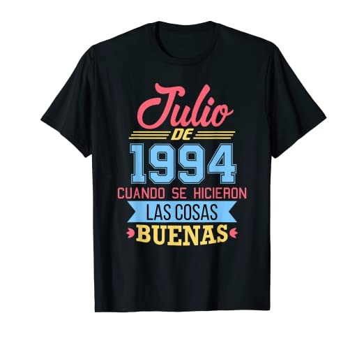 Amazon.com: Julio de 1994 Cumpleanos 25 anos Camiseta: Clothing