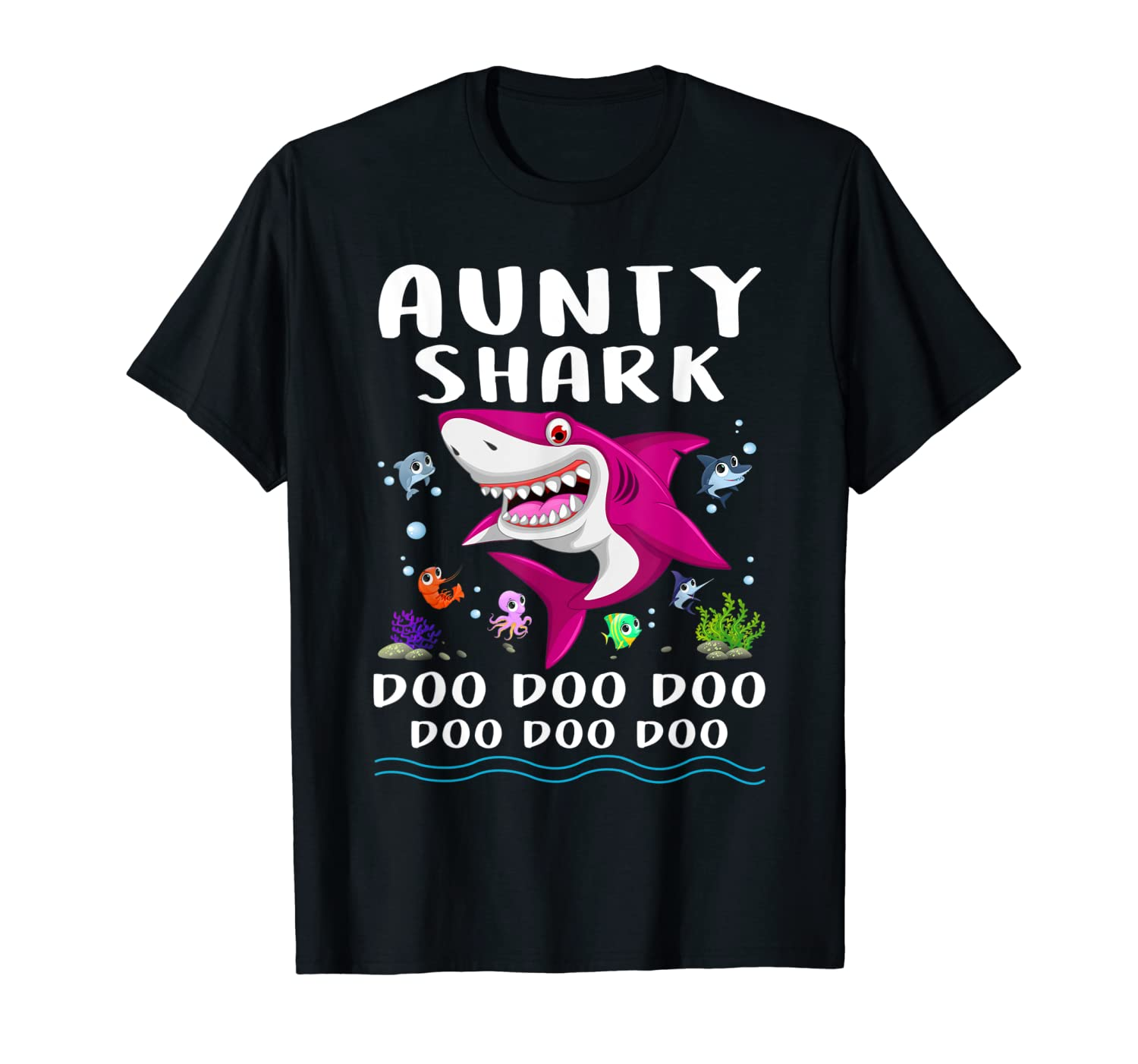 Aunty Shark T-Shirt Doo Doo Doo – Mothers Day Gift T-Shirt