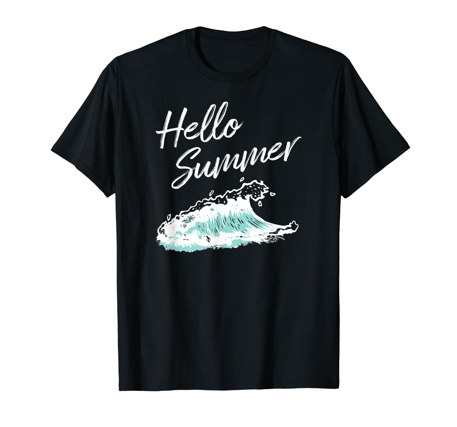 Hello Summer T-Shirt Summer Tee Surfing T-Shirts