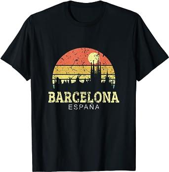 Barcelona Vintage Camisa De Horizonte Ciudad De Barcelona ...