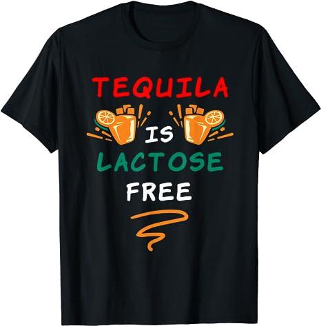 Tequila is lactosefree lustige Sprüche Vegan T-Shirt: Amazon.de: Bekleidung