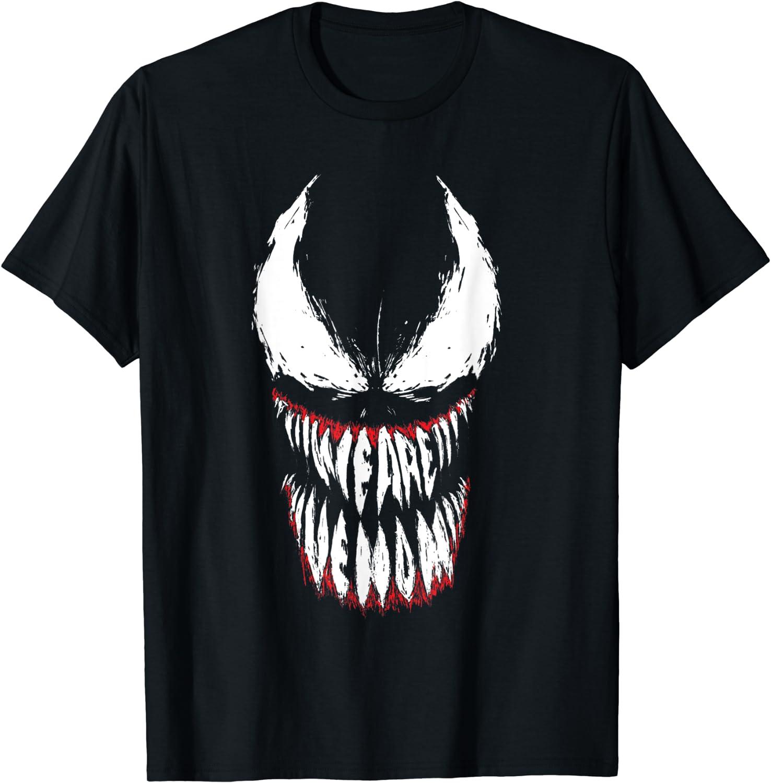 Marvel Venom We Are Venom Face Grin T-Shirt T-Shirt