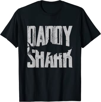 Homme Daddy Shark Fathers Day Gift T-Shirt