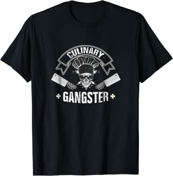 Amazon Com Culinary Gangster Tees Cooking Quality Chef T Shirt Clothing
