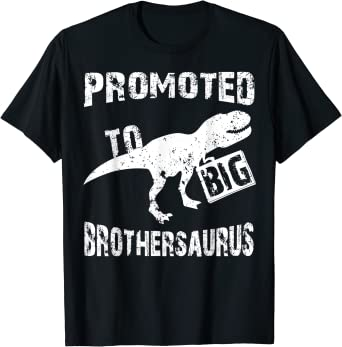 Big Brother Shirt I/'m Going To Be A Big Brother Pregnancy Announcement Dinosaur Promoted To Big Brother-Saurus Dinosaur T-Shirt For Boys