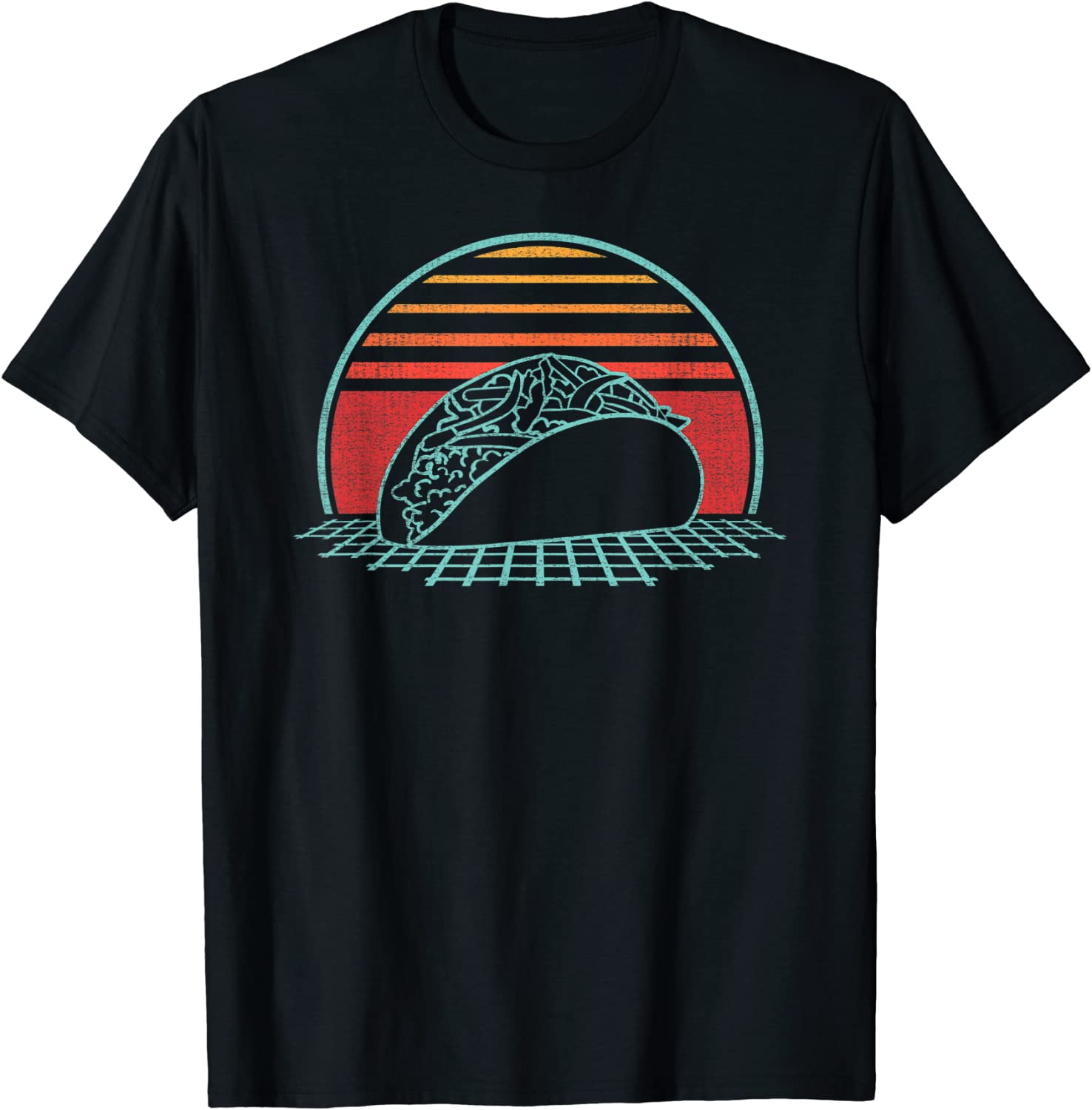 Taco Retro Mexican Food Tuesday Vintage 80s Style Gift T-Shirt