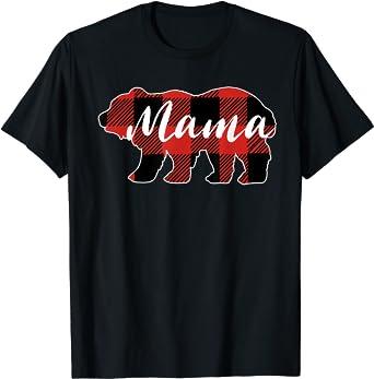 Buffalo Plaid Bear Shirt Baby Shower Gift For Mom Mama Bear Plaid Shirt Mom To Be Shirt Mama Shirt Plaid Bear Shirt Mama Bear Shirt