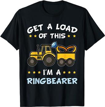 Truck Gift Ring Bearer Gift Digger Shirt Ring Bearer I Dig Being A Ring Bearer Shirt Tractor Gifts Cute Tractor Shirt