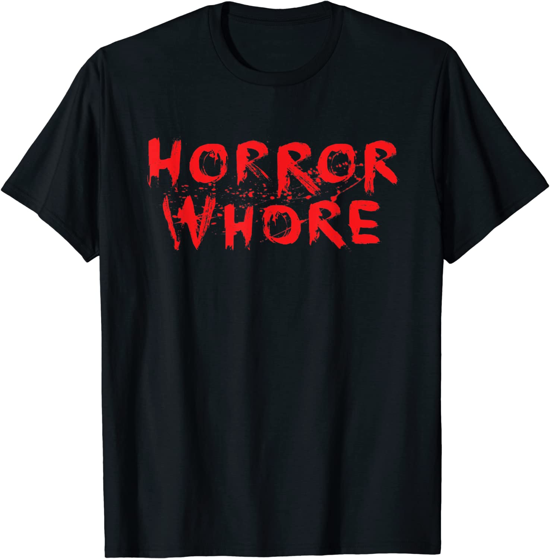 Whore for horror crop top shirt,goth,alternative,Halloween,horror