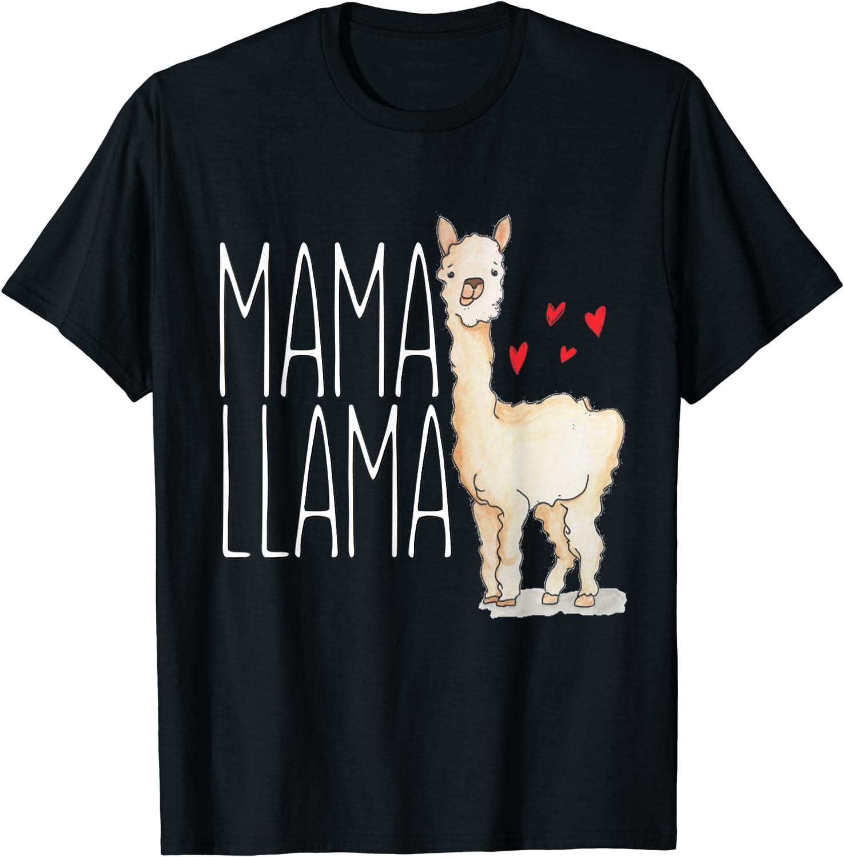 Funny Adult Shirt  Mama Llama  Womens Adult Shirts