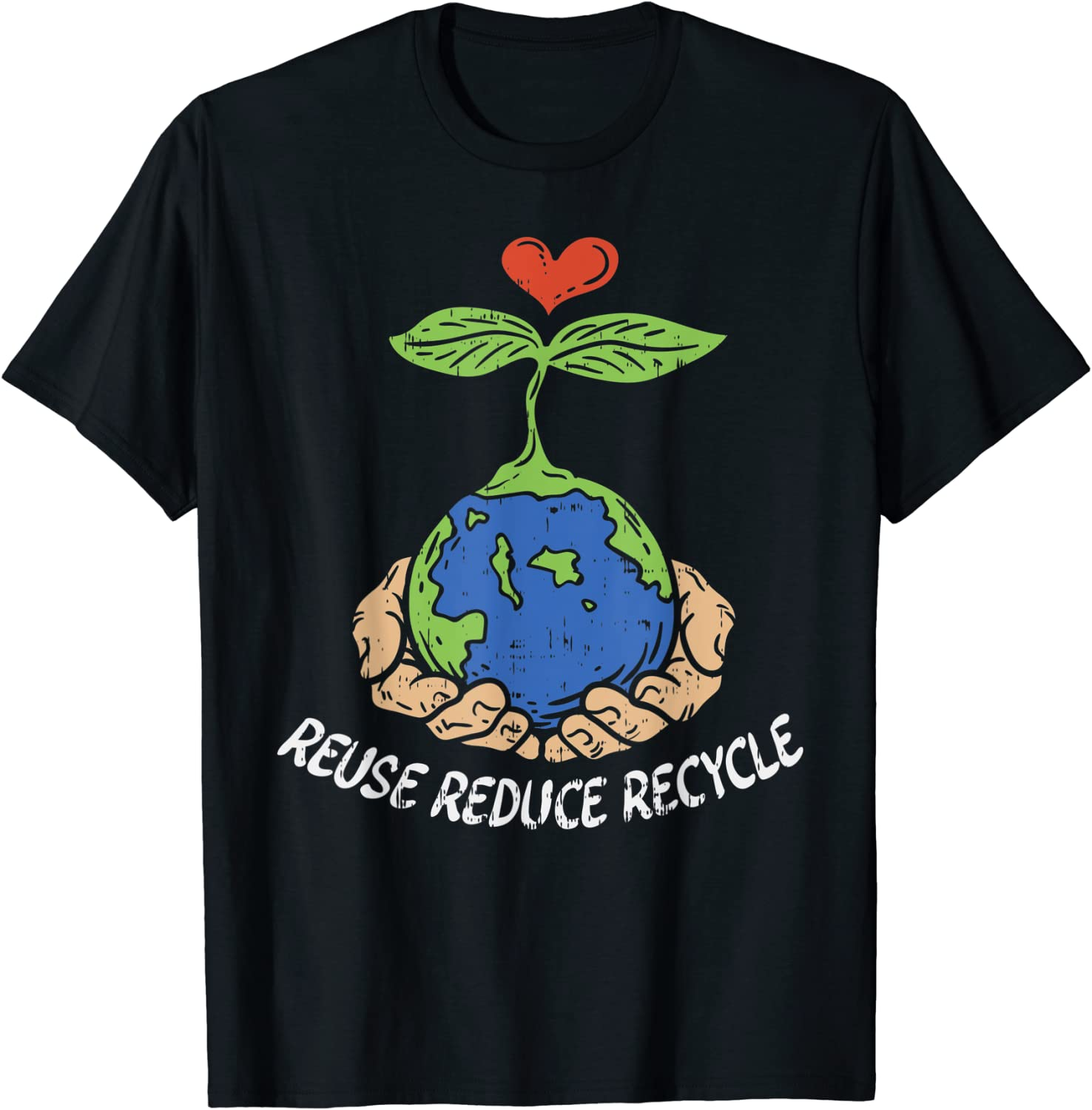 Kids Recycling Symbol T-Shirt Global Warming Recycling Save Planet Oceans