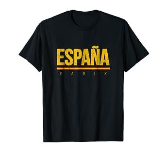 Amazon.com: Cádiz España playera colores de bandera de ...