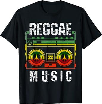 Reggae Rastafari Rasta Musique Cadeau T-Shirt