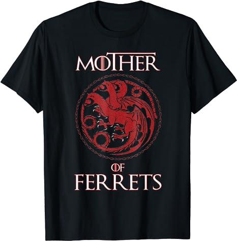 Custom Ferret T Shirt Ferret Mom Custom Gift for Ferret Owner Ferret Momma Ferret Names Ferret Mama Shirt with YOUR Ferret/'s Name