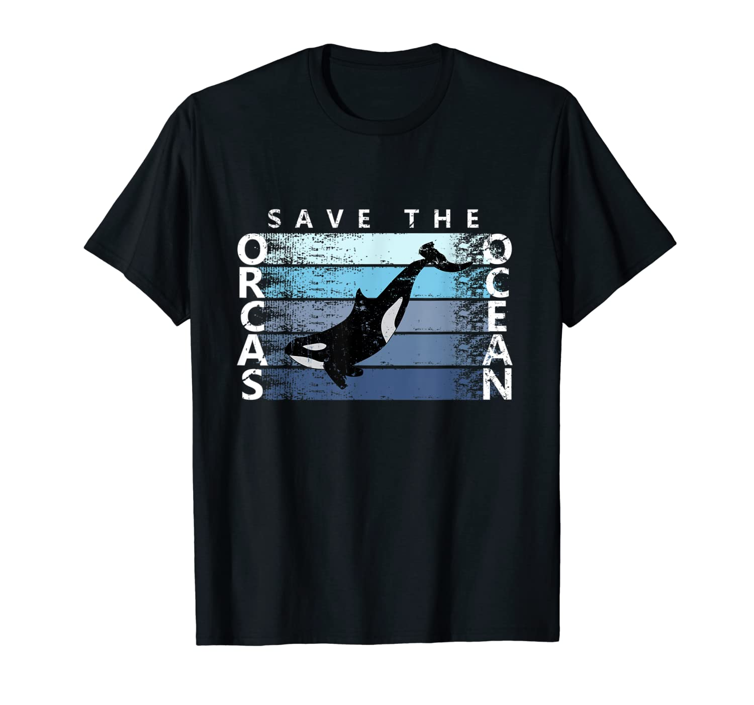Save the orcas save the Ocean t-shirt for orca whale lovers-ANZ