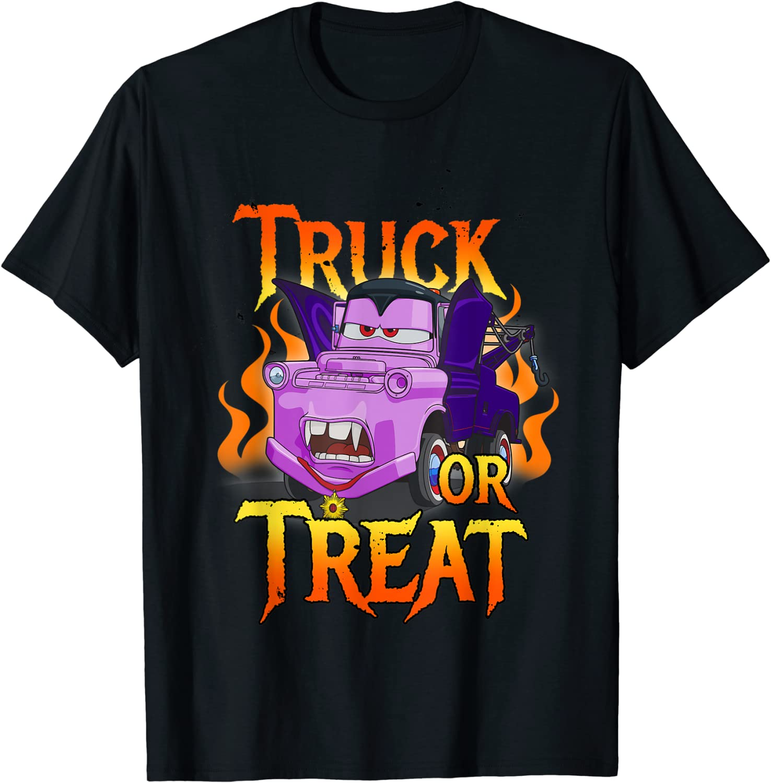 Disney Pixar Cars Halloween Vampire Truck Or Treat T-Shirt
