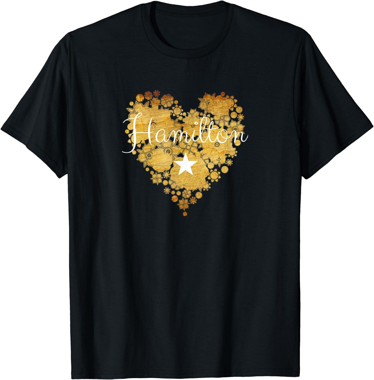 I Love New mail order Hamilton Heart Gift Girl Arlington Mall Women Teenage T-Shirt for