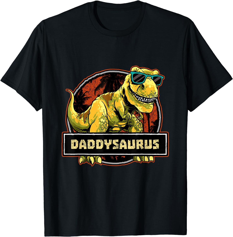 Daddysaurus Fathers Day Memphis Mall T rex Dinosaur Men Fashion T-Shirt Saurus Daddy