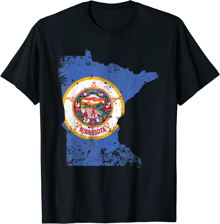 Minnesota State Flag, Faded Flag of Minnesota T-Shirt