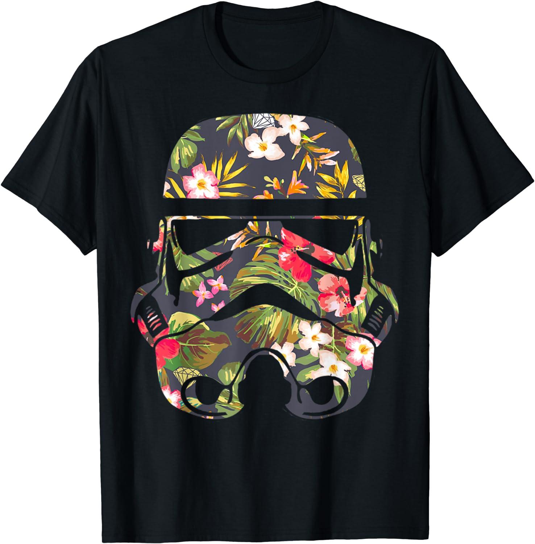 Star Wars Tropical Popular popular Stormtrooper Max 76% OFF Floral Graphic T-S T-Shirt Print