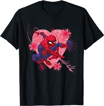 Marvel Spider-Man Hearts Valentines Day T-Shirt