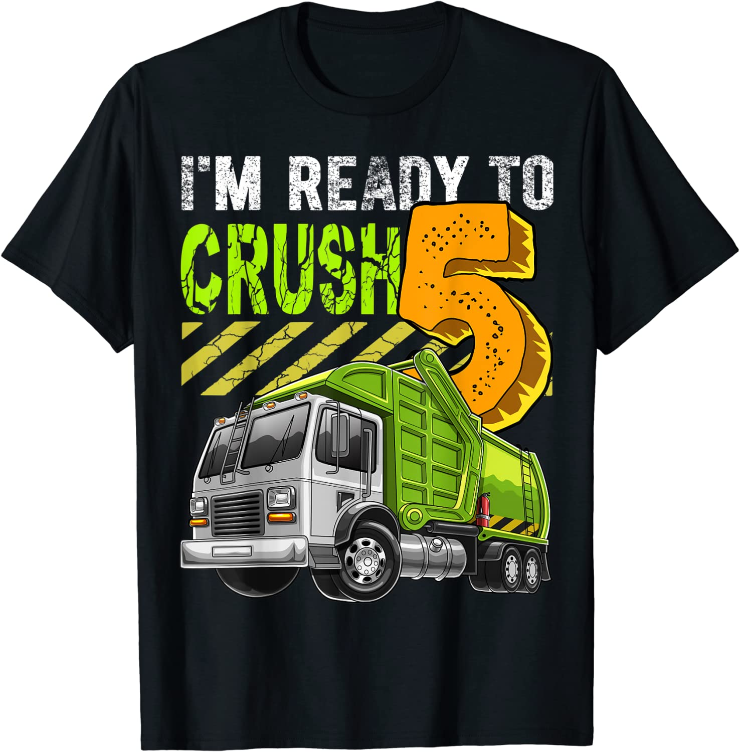 Garbage Truck 5th Birthday Party Kids T-Sh Gift for Super Special SALE held Boy Max 63% OFF