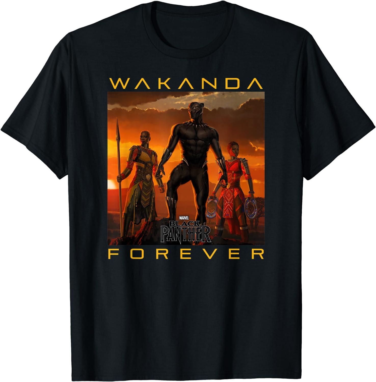 Marvel Black Panther Movie Wakanda Forever Graphic T-Shirt T-Shirt