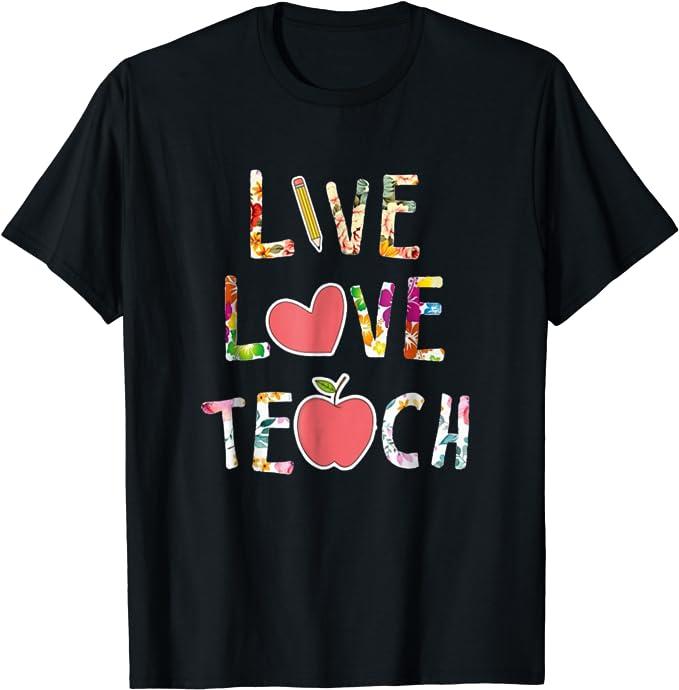 Graphic Tee Love What You Do Teaching Teacher Gift Teach Love Repeat Tee Rainbows Teachers Classroom