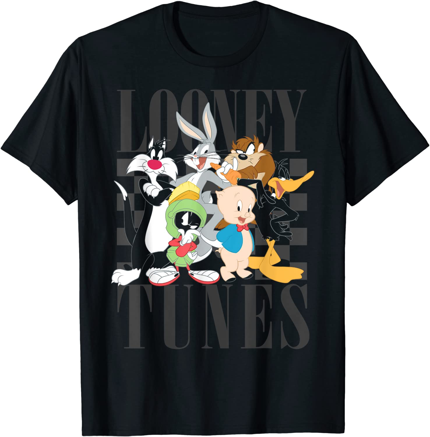 Looney Tunes 90's Style Group Shot T-Shirt