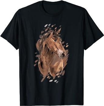Maglietta con tema cavallo per donne e ragazze Maglietta Maglietta