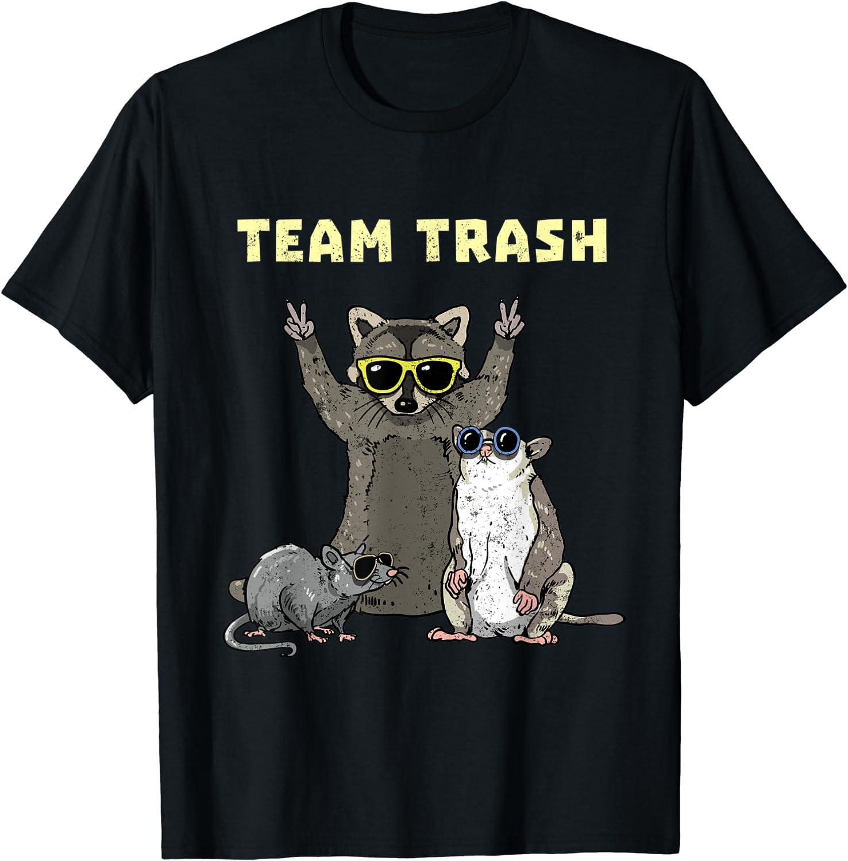 Team Soldering Trash Opossum Raccoon Rat Funny Garbage Animals T-Shi Gang Direct stock discount