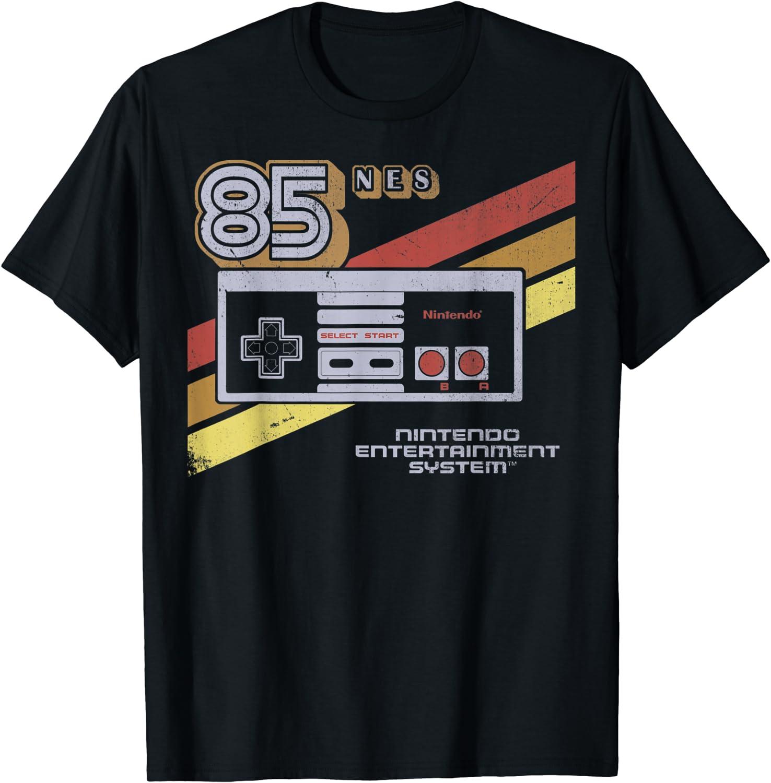 Nintendo NES Albuquerque Mall Controller Surprise price Retro 85 Graphic T-Shirt Stripe