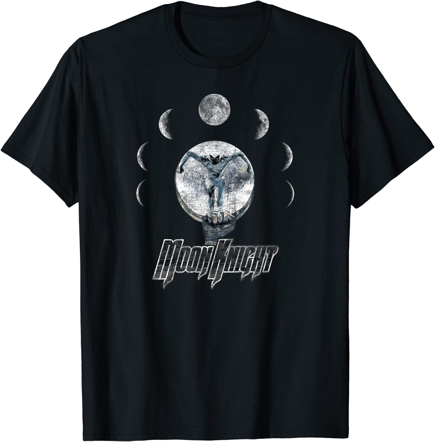 Marvel Moon Knight Epic Moon Phase Badge Graphic T-Shirt