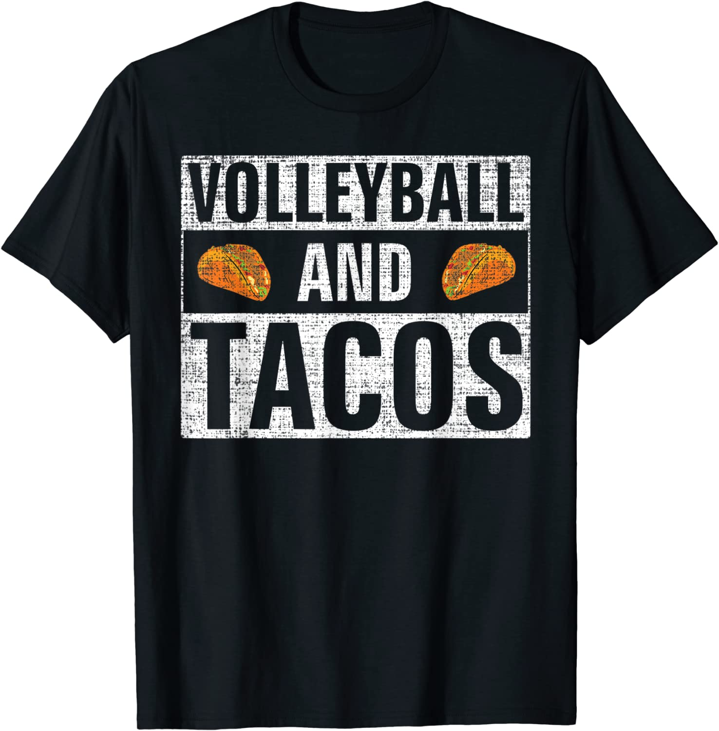 Vintage Volleyball and Tacos Funny Mexican Food Taco Gift T-Shirt