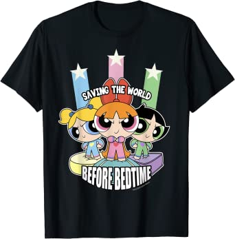 CN The Powerpuff Girls Saving The World Before Bedtime T-Shirt