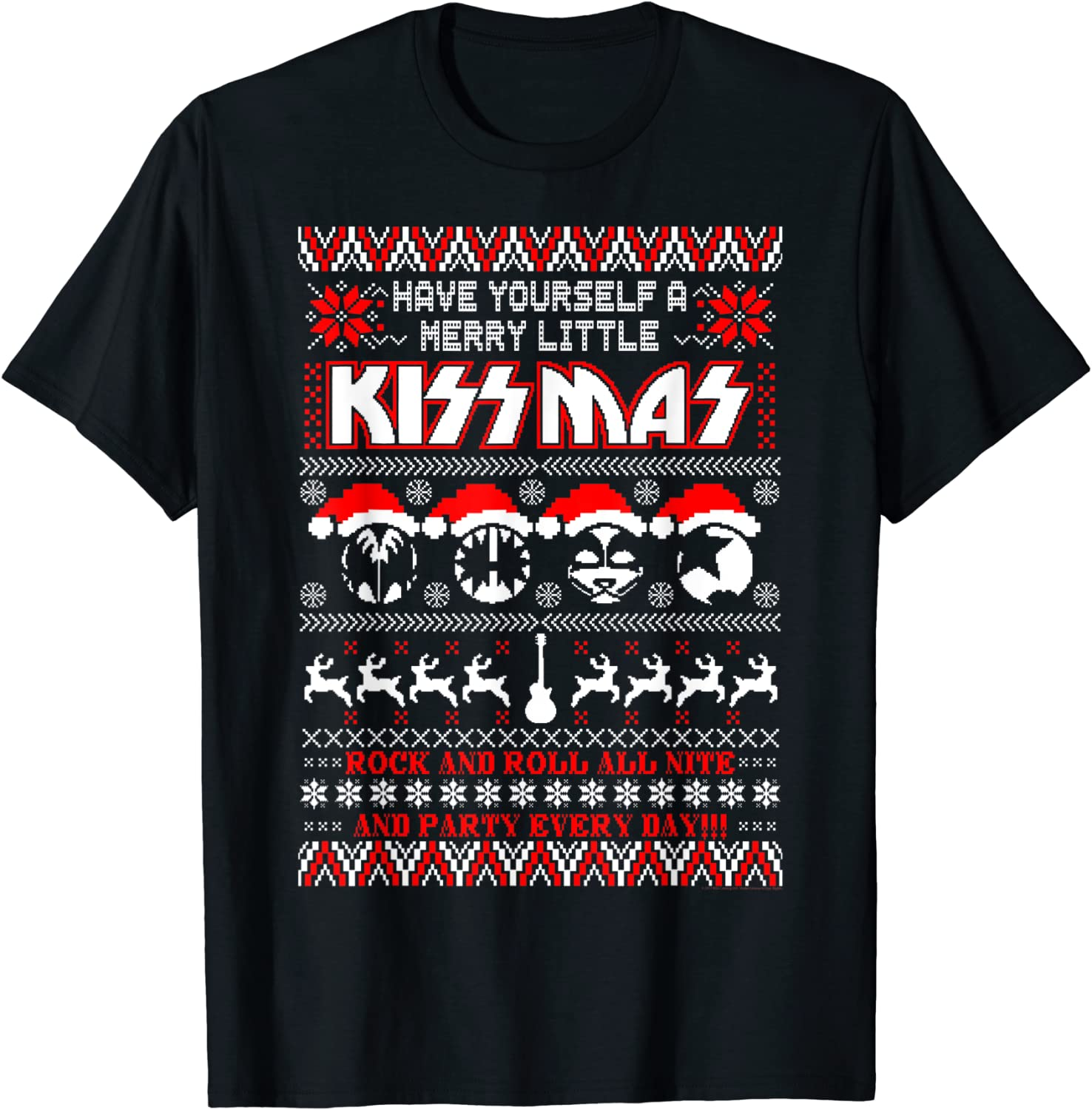 KISS - Merry Special price for a limited time KISSmas T-Shirt Little Choice