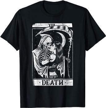 Blackcraft Vintage Death the Grim Reaper Kiss Tarot Card T-Shirt