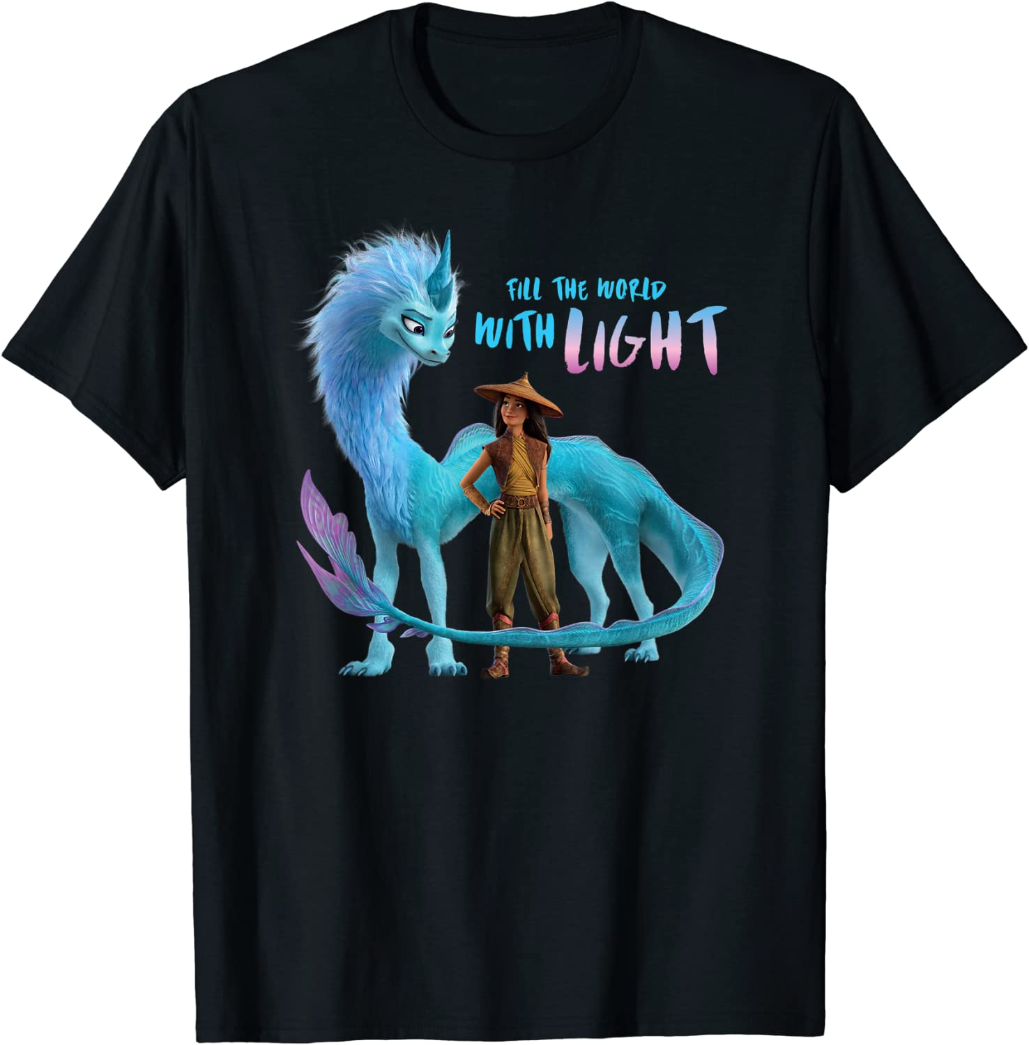 Disney Raya and the Last Dragon Fill the World With Light T-Shirt