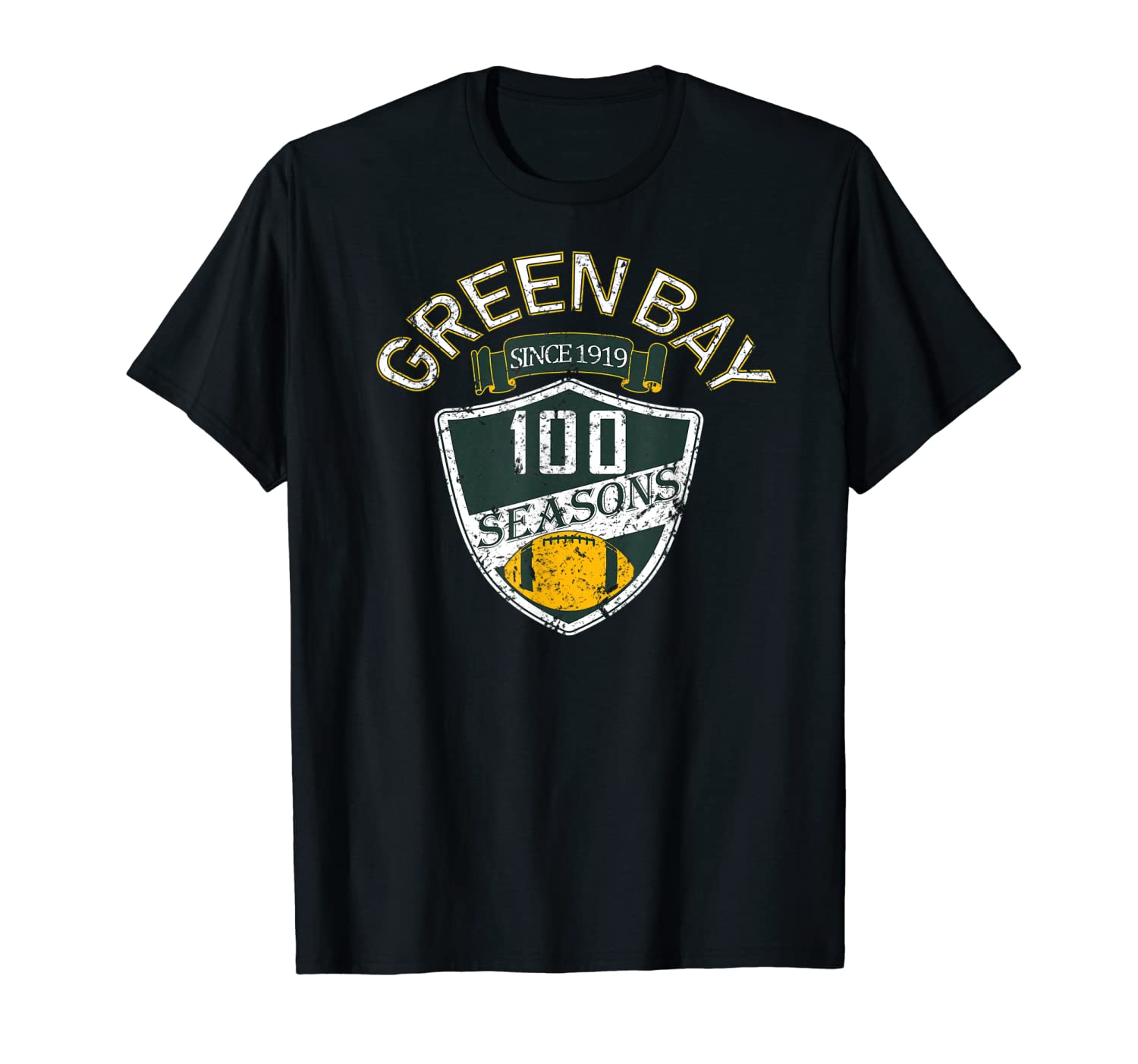 Green Bay 100 Year Anniversary Vintage Football 100 Years T-Shirt-TH