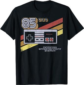 Nintendo NES Controller Retro Stripe 85 Graphic T-Shirt T-Shirt