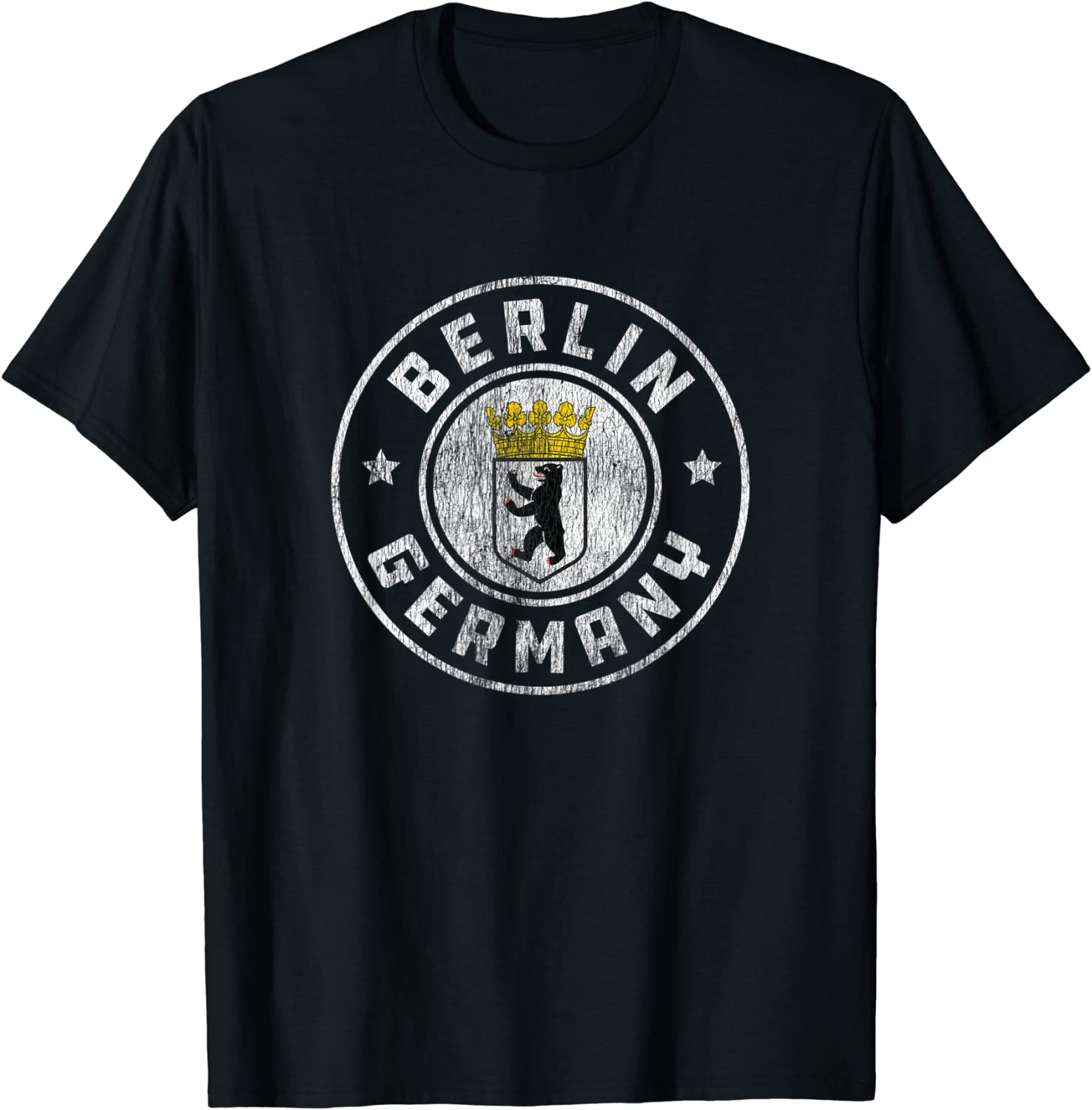 Berlin Germany Vintage Distressed Logo T-Shirt - Classic Fit