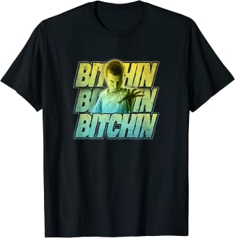 Stranger Things Eleven Bitchin Green Gradient Stack T-Shirt