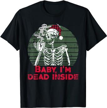Baby im Dead Inside Skeleton drinking Cold Black Coffee Sweatshirt