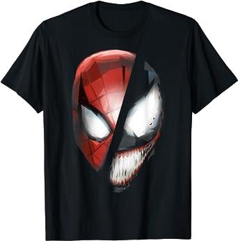 Marvel Venom & Spider-Man Rivals Face Mask T-Shirt