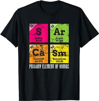 Pesimista Inteligente Humor Oscuro Regalo Químico Sarcasmo Camiseta