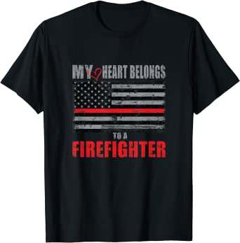 My Heart Belongs To A Firefighter  Shirt  Tank Top  Hoodie  Cute Firefighter Shirt  Fireman Shirt  Firefighter Shirt  Firefighters
