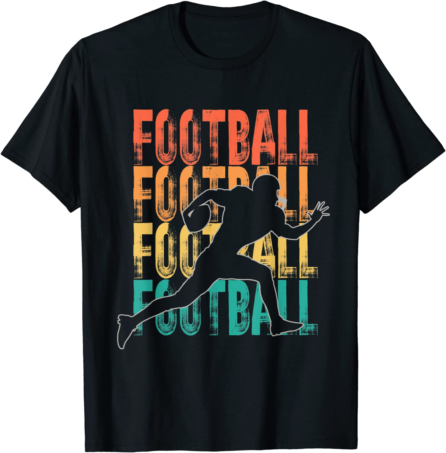 OFFicial mail order outlet Retro American Football Theme Design Footballer T-Shirt Graphic