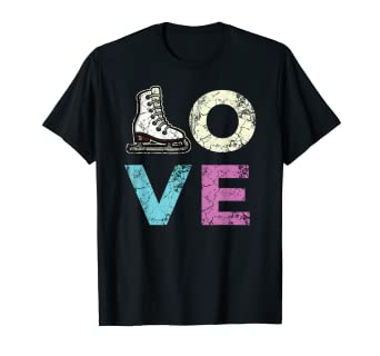 Amazon.com: Love Figure - Camiseta de patinaje para hielo ...